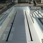 Rooftop Stainless Steel Pool on the Mississippi River
